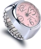 Bold N Elegant - Be Bold Inside & Elegant Outside Metallic Unisex Adjustable Round Finger Ring Watch For Unisex