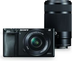 Sony Alpha A6000 24.3MP Digital Camera (55-210mm & 16-50mm Lenses)
