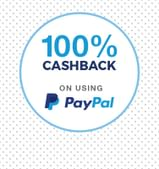 100% Cashback On First Orders via PayPal