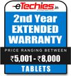 Etechies Tablets 1 Year Extended Basic Protection For Device Worth Rs 5001 - 8000