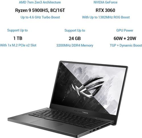 Asus ROG Zephyrus G14 GA401QM-K2272TS Gaming Laptop (AMD Ryzen 9/ 16GB/1TB SSD/ Win10/ 6GB Graph)