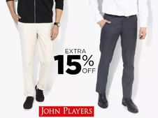 John Players Formal Trousers at Flat 50% OFF
