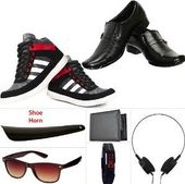 Shoe Island Men's Casual, Formal & Accessories Combo