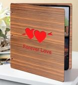Brown Wood 8 x 3 x 9 Inch Forever Love Photo Album by Sehaz Artworks