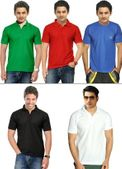 Teesort Xpress Pack of 4 Polo T-shirt with 1 Round Neck Tee at Rs. 999