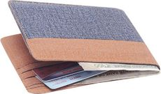 Blue & Brown Denim Bi-fold Wallet for Mens