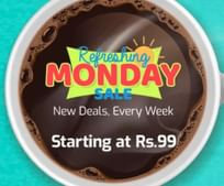 Refreshing Monday Sale: Deals Starting @ Rs. 99 only + Buy 2,  Get flat ₹50 off