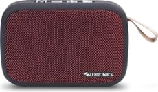Zebronics Zeb-Delight Portable Bluetooth Speaker with Fabric Finish (Red)