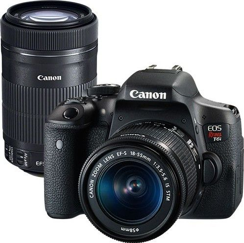 Canon Eos Rebel T6i Dslr Camera Ef S 18 55mm 75 300mm Lens