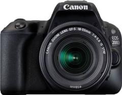 Canon EOS 200D DSLR Camera (EF-S18-55 IS STM+ EF-S 55-250mm IS II)