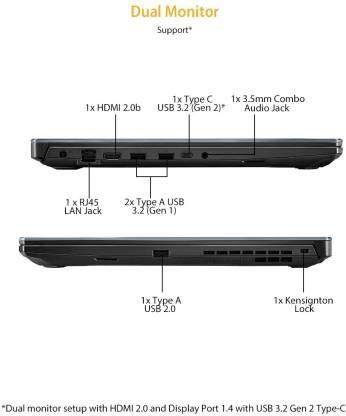 Asus TUF Gaming A17 FA706IH-AU016T Laptop (AMD Ryzen 5/ 8GB/ 512GB SSD/ Win10/ 4GB Graph)