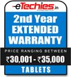 Etechies Tablets 1 Year Extended Basic Protection For Device Worth Rs 30001 - 35000