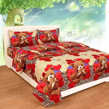 91d81f03eddbd7 Home Pictures 145 TC Microfiber Double Cartoon Bedsheet (Pack of 1 ...