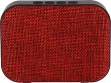 Live Tech Portable Yoga Bluetooth Wireless Speaker with Micro SD/AUX/Mic - Black (Red)