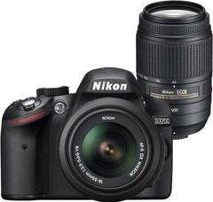 Nikon D3200 DSLR Camera (AF-S 18-55mm + 55-300mm VR Lens)