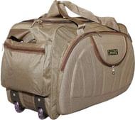 alfisha Lightweight Waterproof Luggage Travel Bags/Duffel Bag with Wheels (Gala Brown, AFB-DUF-16)(40 litres)