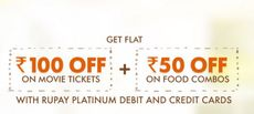 RUPAY WEEKENDS OFFER: Rs. 100 OFF on Movie Tickets + Rs. 50 OFF on Food Combos