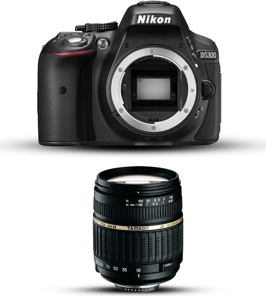 Nikon D5300 with Tamron 18-200mm Lens