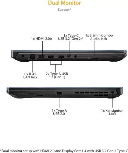Asus TUF Gaming A17 FA706IU-HX415T Laptop (AMD Ryzen 7 4800H/ 16GB/ 1TB 256GB SSD/ Win10 Home/ 6GB Graph)