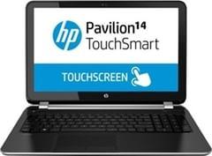 HP Pavilion 14-n296tx Notebook (4th Gen Ci5/ 4GB/ 1TB/ Win8.1/ Touch) (J8B57PA) (Metallic Black)
