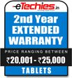 Etechies Tablets 1 Year Extended Basic Protection For Device Worth Rs 20001 - 25000