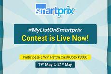 #MyListOnSmartprix Contest | Participate & Win Paytm Cash Upto Rs. 3000