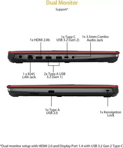 Asus TUF Gaming F15 FX506LI-HN271TS Gaming Laptop (10th Gen Core i5/ 8GB/ 512GB SSD/ WinHome/ 4GB Graph)