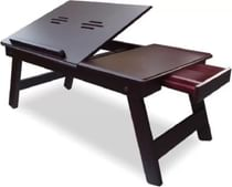 Table Mate Adjustable Wood Portable Laptop Table