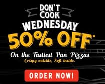 Wednesday Special: Flat 50% OFF on Medium Pan Pizza