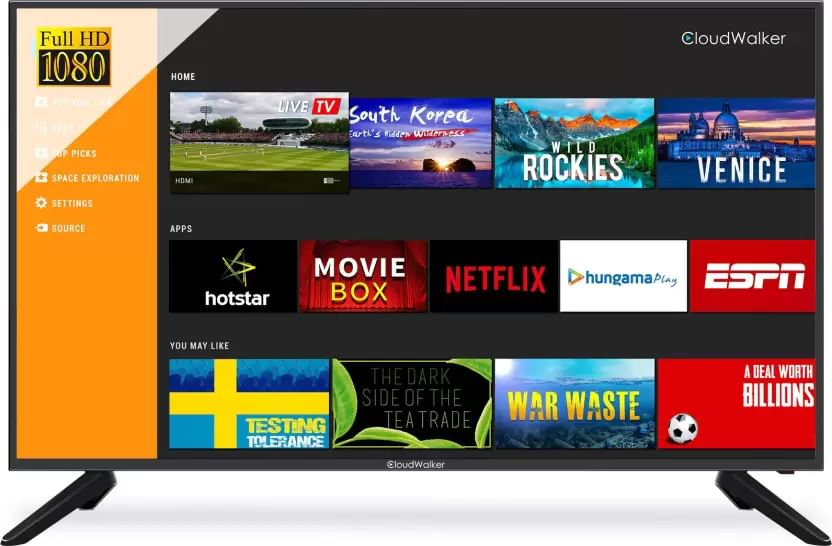 CloudWalker Cloud TV 43SF04X 43-inch Full HD Smart LED TV
