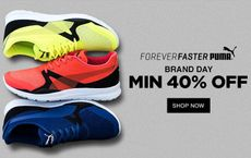Min 40% OFF on Puma Brand   Shoes, Bags, T-Shirts & More