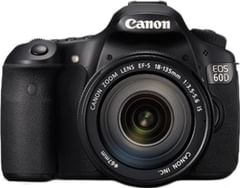 Canon EOS 60D 18MP Digital SLR Camera (Black) with EF-S 18-135 IS Lens, 8GB Card