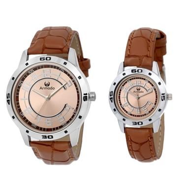 Armado Analogue Silver Dial Men s   Women s Couple Watch (Ar-0073 ... 0f392f991f