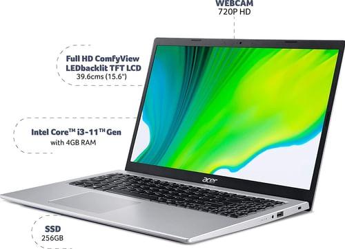 Acer Aspire 5 A515-56 UN.A1GSI.008 Laptop (11th Gen Core i3/ 4GB/ 256GB SSD/ Win10 Home)