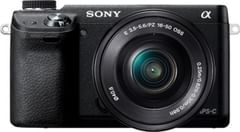 Sony Alpha NEX-6 16.1MP Mirrorless Camera (Black) with 16-50mm Lens