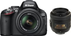Nikon D5100 (with AF-S 18 - 55 mm VR Kit + AF-S DX NIKKOR 35 mm f/1.8G DSLR Camera)