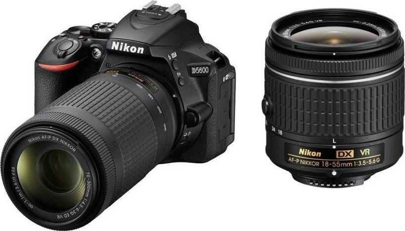 Nikon D5600 DSLR Camera (AF-P 18-55mm + 70-300mm VR Lens)