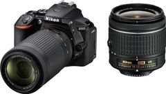 Nikon D5600 DSLR Camera (AF-P 18-55mm + 70-300mm VR Lens)