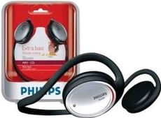 Philips SHS390/98 Neckband Headphone (Black)