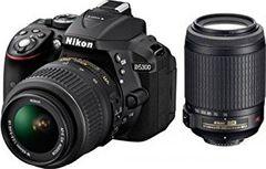 Nikon D5300 DSLR (AF-S 18-55mm + 55-200mm VR Kit Lens)