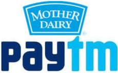 Pay using Paytm @ Mother Dairy and Get Upto Rs. 2,000 Cashback