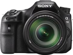 Sony Alpha SLT-A58M DSLR Camera (Body with 18 - 135 mm Lens)