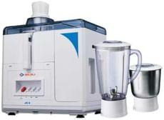 Bajaj Majesty JX5 450 W Juicer Mixer Grinder (White/Blue)