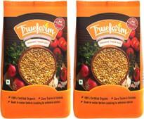 Truefarm Foods Organic Toor Dal Pouch, 2 X 500 g