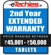 Etechies Tablets 1 Year Extended Basic Protection For Device Worth Rs 45001 - 50000