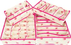 Multi Utility Pink Polyester Organisers by Home Creation