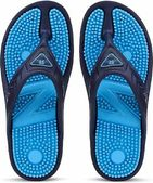 DzVR Unisex Blue Acupressure Health Care EVA Rubber Flip Flops