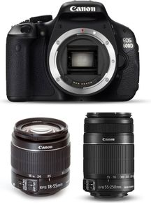 Canon EOS 600D with 18-55mm + 55-250mm Lens