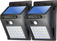 Solar Lights for Garden 100 LED Motion Sensor Security Lamp (100 LED - Pack of 1) (2 Piece)