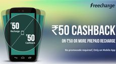 Rs. 50 Cashback on Prepaid Recharge of Rs. 50 or More